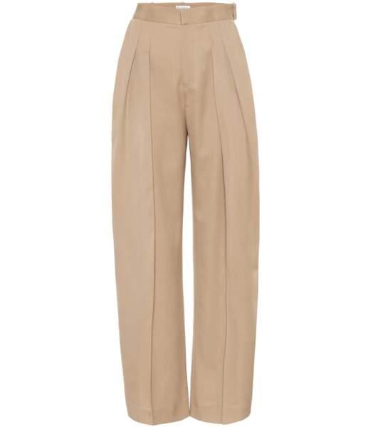 Pantalon ample en laine à taille haute, 525€, Jw Anderson sur Mytheresa