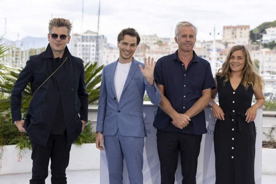 Benjamin Biolay, Emanuele Arioli, Bruno Dumont et Blanche Gardin se retrouvent pour la journée presse consacrée à leur film.
