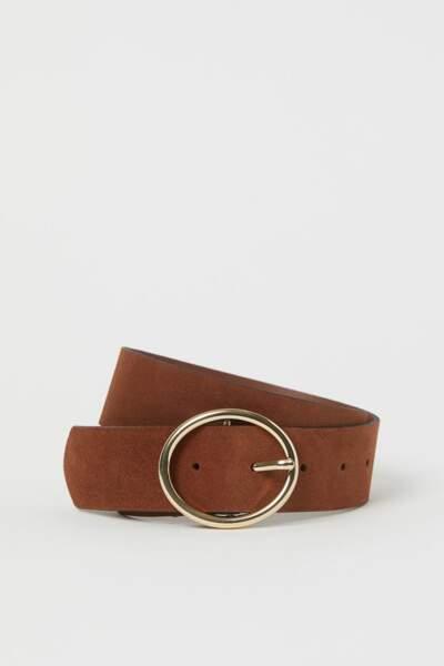 Ceinture à ovale en cuir, 130€, Vanessa Bruno