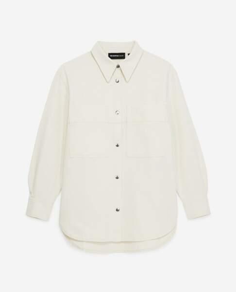 Chemise blanche en jean ample, 215€, The Kooples
