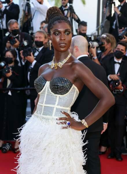 Cannes 2021 : Jodie Turner Smith porte à merveille une parure de diamants naturels au Festival