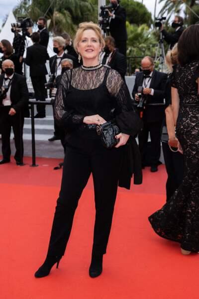 Agnès Soral a foulé le tapis rouge lors de la 74ème édition du Festival de Cannes.