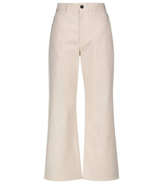 Pantalon raccourci à taille haute en coton, 343, Jil Sander sur Mytheresa
