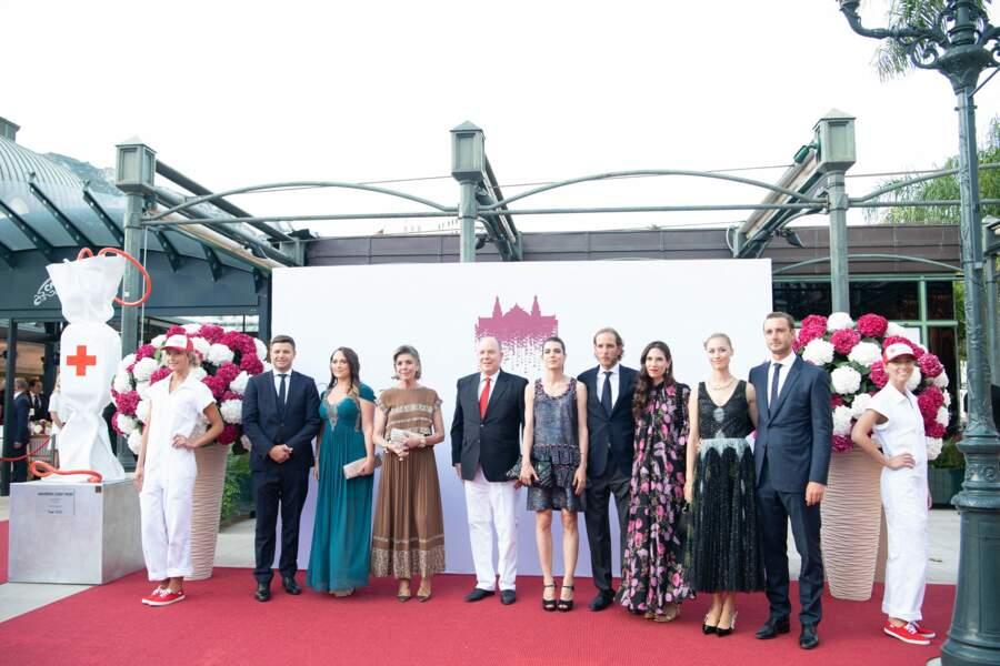 La princesse Caroline de Hanovre est venue accompagnée de ces enfants pour assister au concert de la Croix-Rouge, ce vendredi 16 juillet