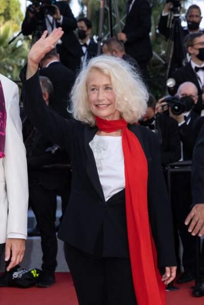 Brigitte Fossey au rendez-vous de cette dernière montée des marches du 74e Festival de Cannes
