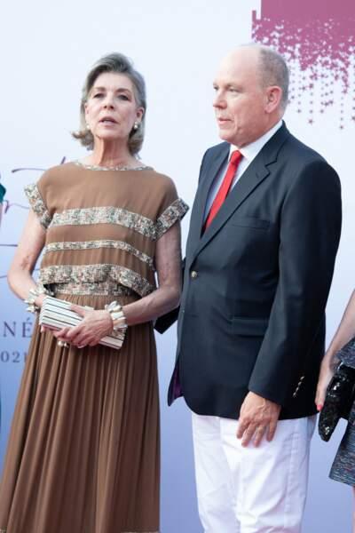 Caroline de Monaco remplace la princesse Charlène, grande absente au concert de la Croix-Rouge, ce vendredi 16 juillet