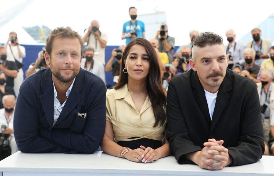 L'équipe du film Les Intranquilles lors du 74ème festival international du film de Cannes le 17 juillet