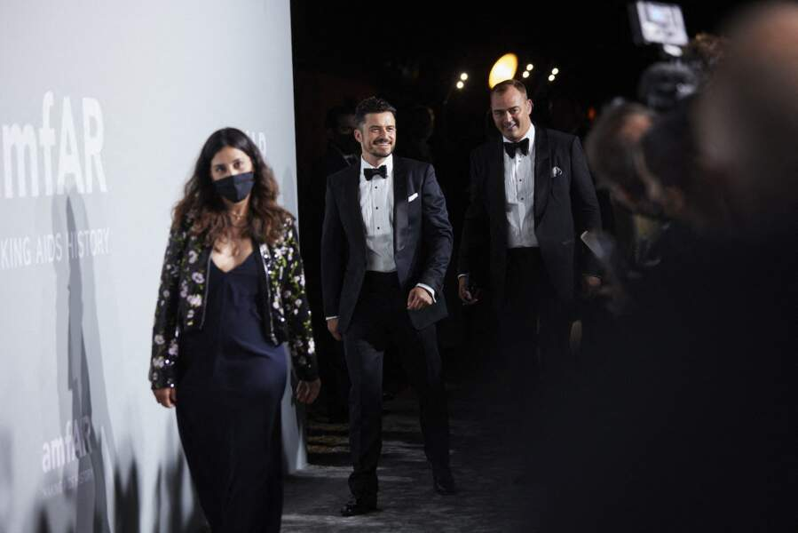 Orlando Bloom à son arrivée sur le photocall de la soirée du gala de l'amfAR, ce 16 juillet
