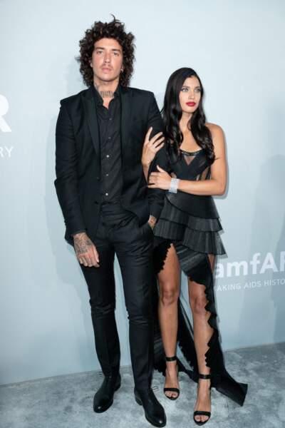 Julian Perretta est venu avec sa fiancée Kambree Dalton au gala de l'amfAR, lors du 74ème Festival de Cannes, le 16 juillet