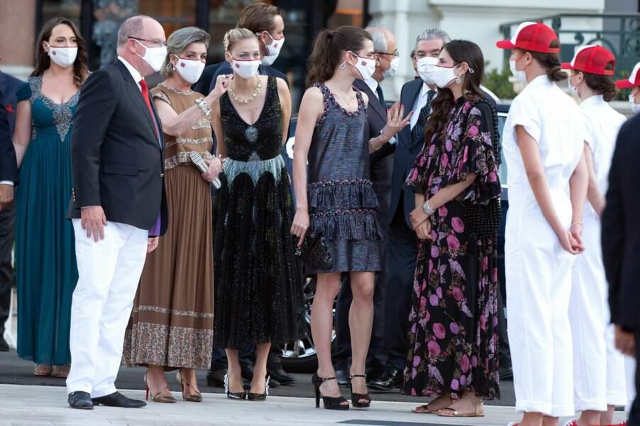 Albert II a été accompagné par sa soeur aînée, Caroline de Monaco et de ses enfants au concert de la Croix-Rouge, ce vendredi 16 juillet