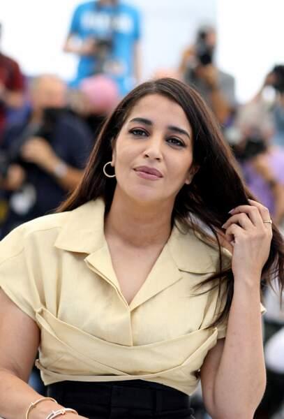 Glamour et élégante, Leïla Bekhti a fait crépiter les flashs des photographes lors du photocall du film Les Intranquilles, le 17 juillet