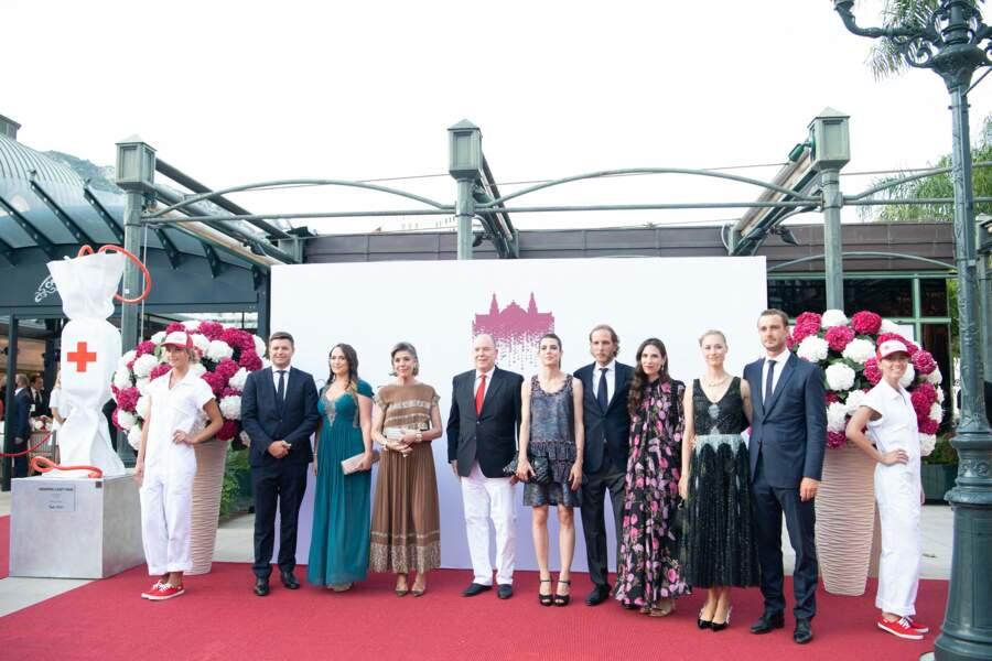 Andrea Casiraghi et son épouse Tatiana Santo Domingo ont également fait une apparition au au concert de la Croix-Rouge, ce vendredi 16 juillet