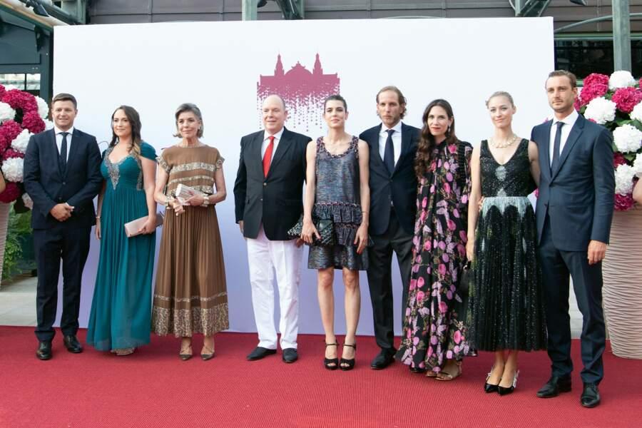 Caroline de Monaco est venue avec ses enfants, Pierre, Andrea et Charlotte au concert de la Croix-Rouge, ce vendredi 16 juillet