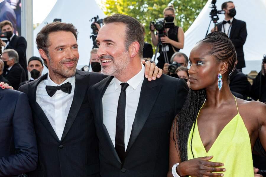 Fatou N'Diaye était lumineuse, entourée de Jean Dujardin, l'incontournable OSS 117, et du réalisateur de ce troisième volet de la saga, Nicolas Bedos