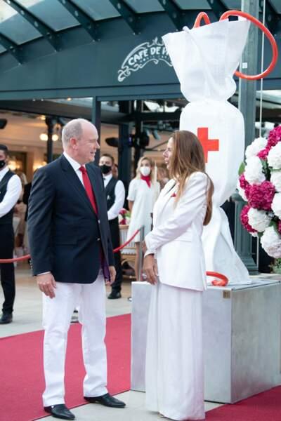 Albert II remplit ses obligations royales au au concert de la Croix-Rouge, ce vendredi 16 juillet