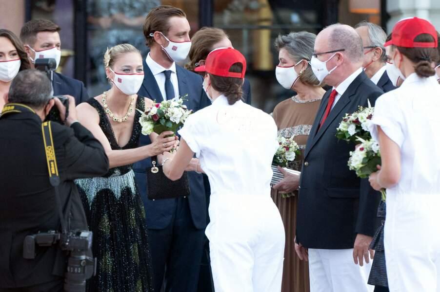 La famille  princière monégasque s'est rendue au concert de la Croix-Rouge, ce vendredi 16 juillet