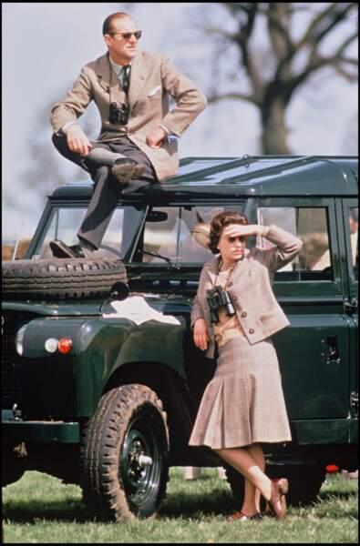 Le prince Philip et la reine, Elizabeth II, en 1968