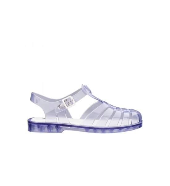 Sandales plates, 65€, Melissa