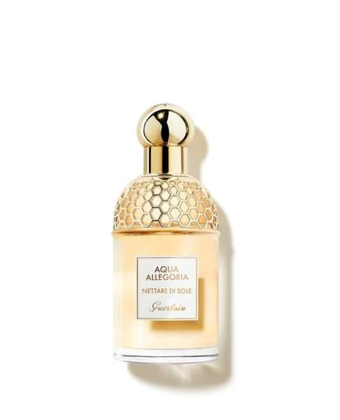 Son Parfum : le flacon Abeille aux notes de bergamote Nettare di Sole, collection Aqua Allegoria, Guerlain, 106€ les 125ml
