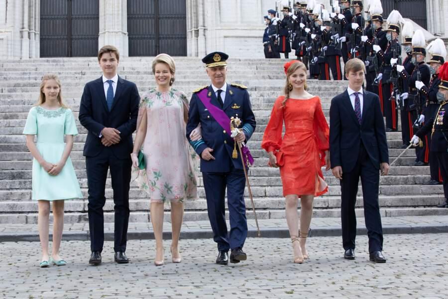Le couple royal était accompagné de ses quatre enfants pour l'occasion.
