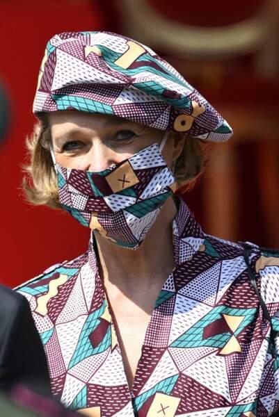 La princesse Delphine de Saxe-Cobourg a mis à l'honneur un couturier belge pour la fête nationale.