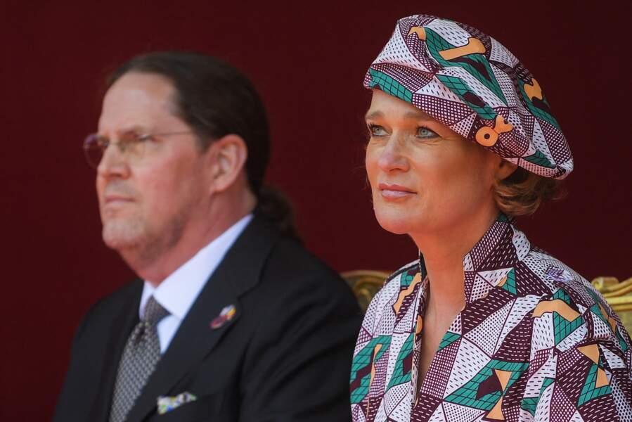 La princesse Delphine de Belgique et son compagnon Jim O'Hare.