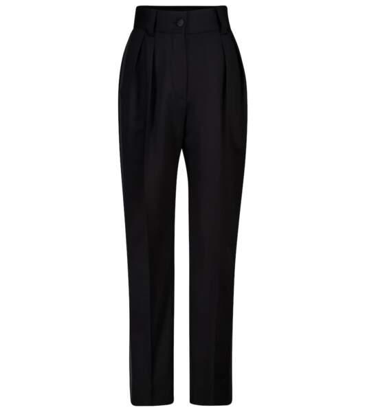 Pantalon droit à taille haute en laine, 790€, Miu Miu sur MyTheresa
