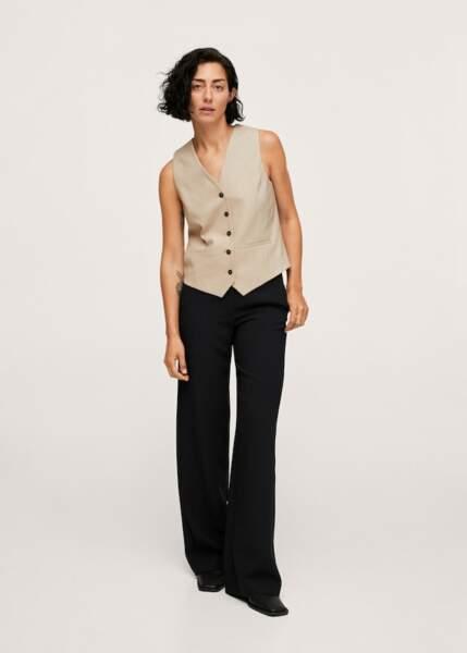 Pantalon palazzo taille haute, 39,99€, Zara