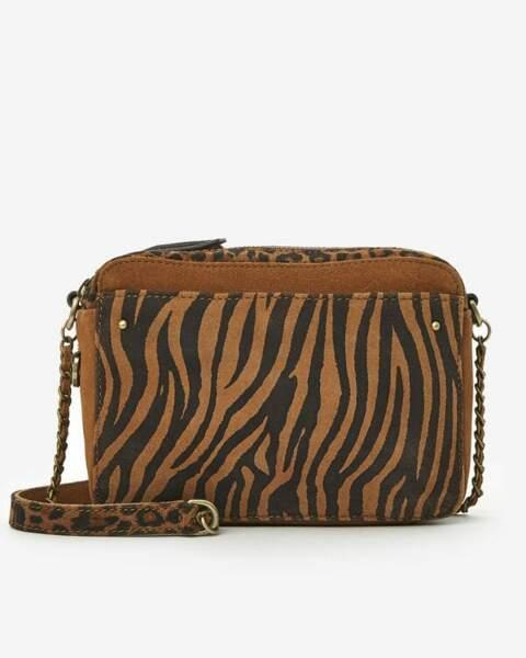 Mini sac zébré, 79€, San Marina