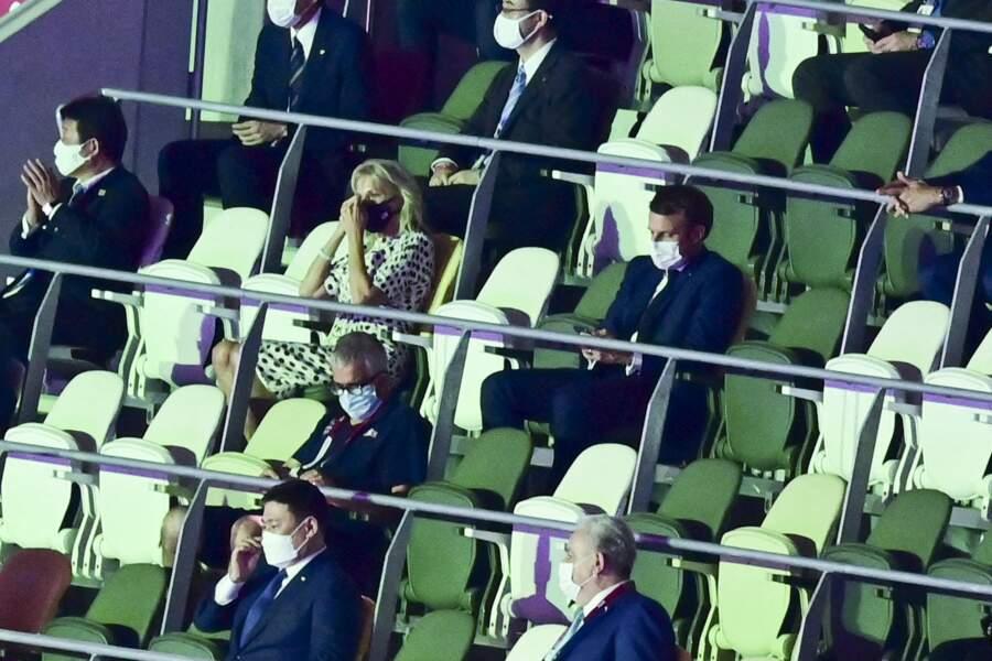 Le président de la République et la Première Dame des Etats-Unis d'Amérique étaient présents à la cérémonie d'ouverture des Jeux Olympiques de Tokyo, le 23 juillet
