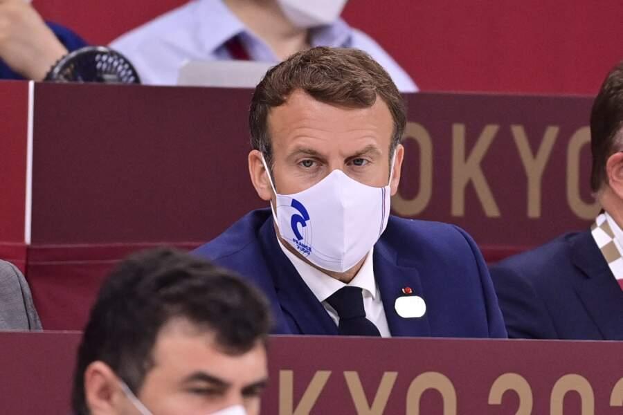 Emmanuel Macron et Jill Biden se sont retrouvés pour assister à la cérémonie d'ouverture des Jeux Olympiques de Tokyo 2020, le 23 juillet
