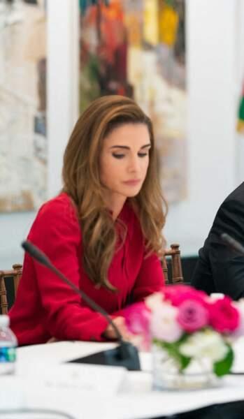 Rania de Jordanie, l'épouse d'Abdallah II, en visite officielle à Washington le 23 juillet 2021.