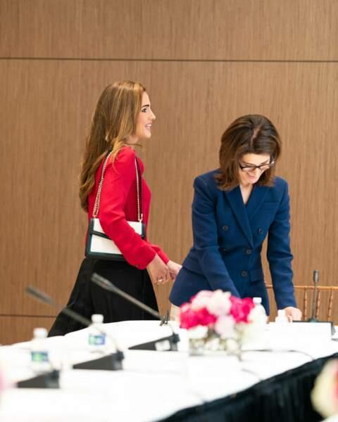 Rania de Jordanie lors de sa visite officielle à Washington, le 23 juillet.