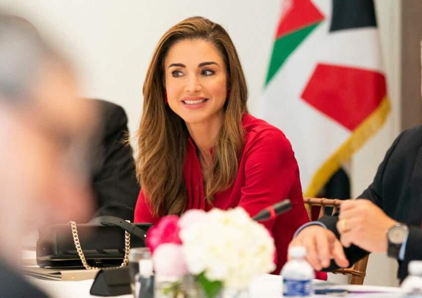 Rania de Jordanie était radieuse et souriante, au cours de cette réunion à Washington.