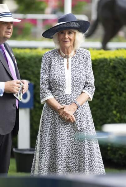 La duchesse de Cornouailles était au centre de tous les regards à l'hippodrome d'Ascot pour ce dernier jour de course.