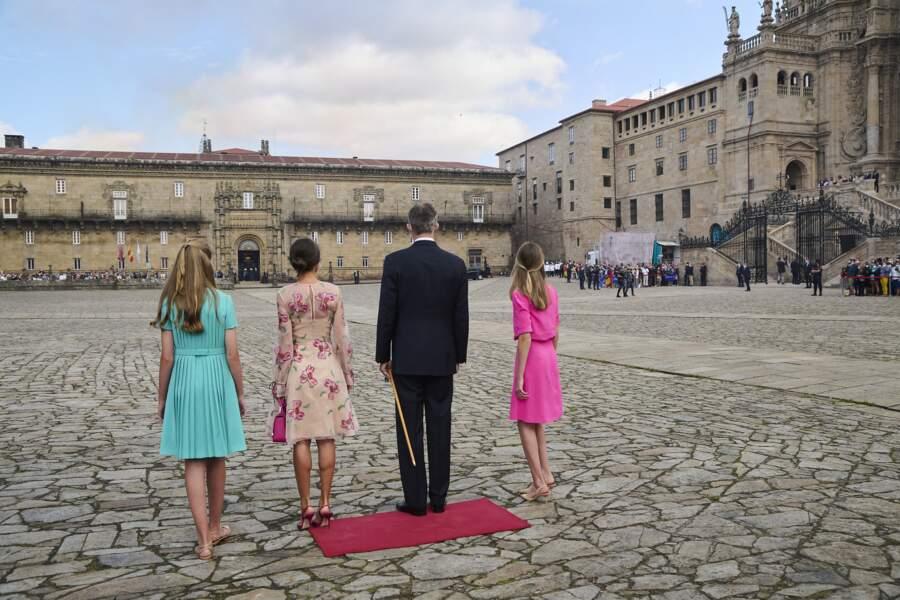 La famille royale d'Espagne célèbre  la fête nationale de la Galice, le 25 juillet