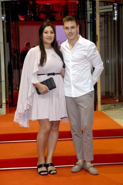 Louis Ducruet et sa femme Marie durant la traditionnelle soirée d'été de Fight Aids Monaco au Sporting Club de Monaco, le 24 juillet 2021