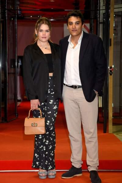 Camille Gottlieb et son meilleur ami, Médy Anthony à la soirée de Fight Aids Monaco, le 24 juillet