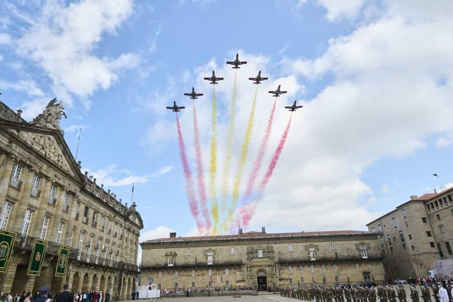 La famille royale d'Espagne assiste aux festivités du jour de la Saint-Jacques, le 25 juillet
