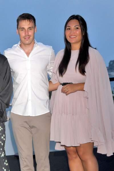 Louis Ducruet est venu avec Marie, sa femme pour soutenir sa mère lors du traditionnel gala de Fight Aids Monaco, le 24 juillet 2021