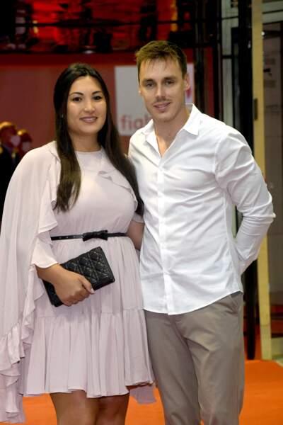 Louis Ducruet et sa femme Marie, mariés depuis 2019, sont venus ensemble au gala de Fight Aids Monaco, le 24 juillet