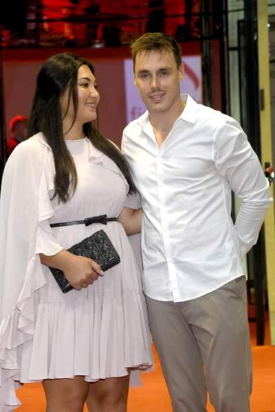 Louis Ducruet, le fils de Stéphanie de Monaco est accompagné de Marie, sa femme pour assister au gala de Fight Aids Monaco, le 24 juillet 2021