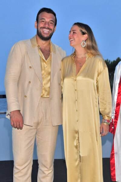 Pauline Ducruet est venue avec son conjoint pour assister à la soirée à la Salle des Etoiles, au profit de l'association Fight Aids Monaco,  le 24 juillet