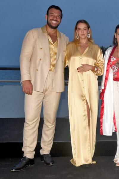Pauline Ducruet est venue au gala de Fight Aids Monaco avec son compagnon depuis quelques mois, Maxime Giaccardi, ce 24 juillet