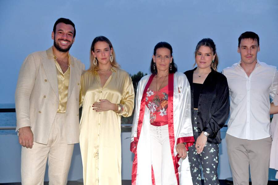 La famille de la princesse Stéphanie de Monaco réunie à ses côtés pour le gala de Fight Aids Monaco, le 24 juillet