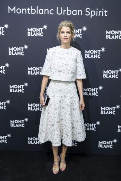 Alice Taglioni en 2016 : chignon chic et tenue très chic chez Montblanc