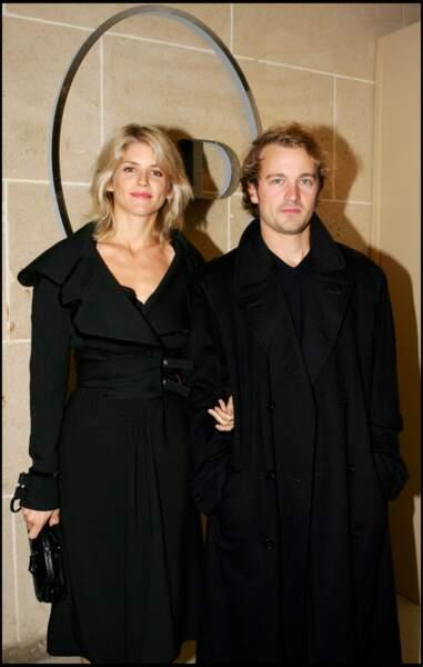 Alice Taglioni fatale en 2006 avec son compagnon Jocelyn Quivrin au défilé Dior