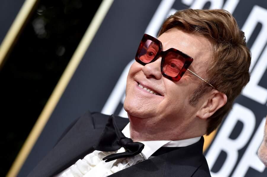 Elton John au Beverly Hilton Hotel à Los Angeles, le 5 janvier 2020.