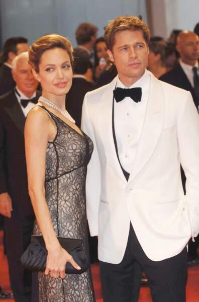 Angelina Jolie et Brad Pitt à la 64e Mostra de Venise en septembre 2007
