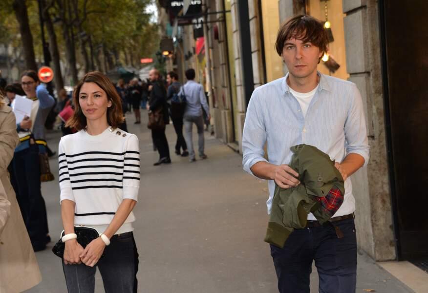 Sofia Coppola et son mari Thomas Mars, à Paris, le 29 septembre 2014